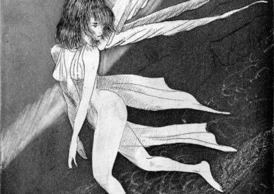 L'Ange-gravure 10cm x 10cm