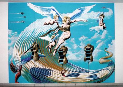 Ange ou démon - fresque - salon de coiffure Romont (FR)