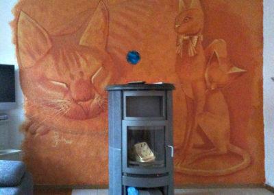 Chats - fresque - Romont (FR)