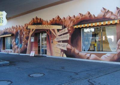 Colorado - fresque trompe l'oeil - shop - Mézières (FR) - effacée par le nouveau locataire