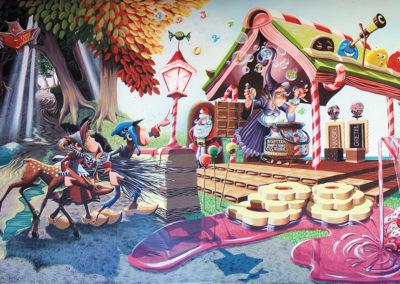 Hansel & Gretel - fresque - Ecole primaire - Vuisternens-devant-Romont (FR)