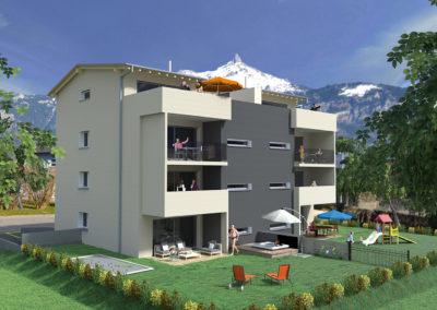 Projet immobilier à Massongex-3D