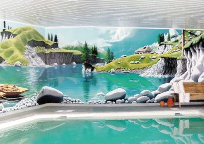 Montagne Suisse - fresque trompe l'oeil - Sommentier (FR)
