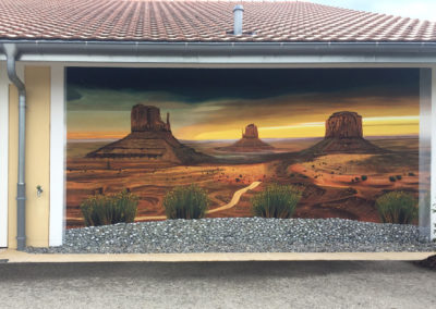Monument Valley - fresque trompe l'oeil - Romont (FR)