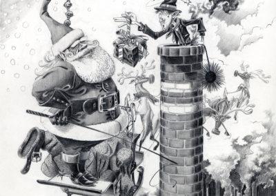 Père Noël ramoneur-graphite