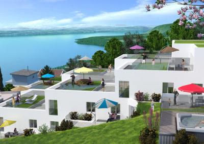 Projet immobilier à Peseux-3D