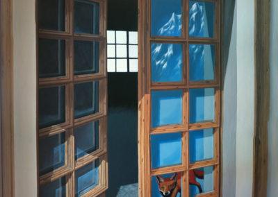 Renard - fresque trompe l'oeil - Villars-sur-Ollon
