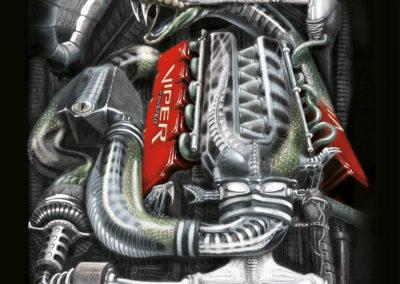 Moteur viper facon Gigger-illustration